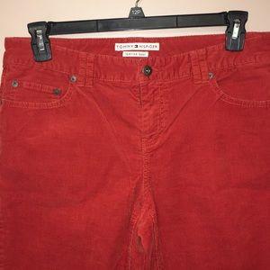 Tommy Hilfiger corduroy boot cut low rise pants 12